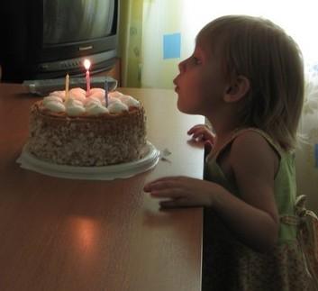 День рождения,  праздничный торт