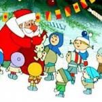 Дед Мороз водит хоровод с детьми